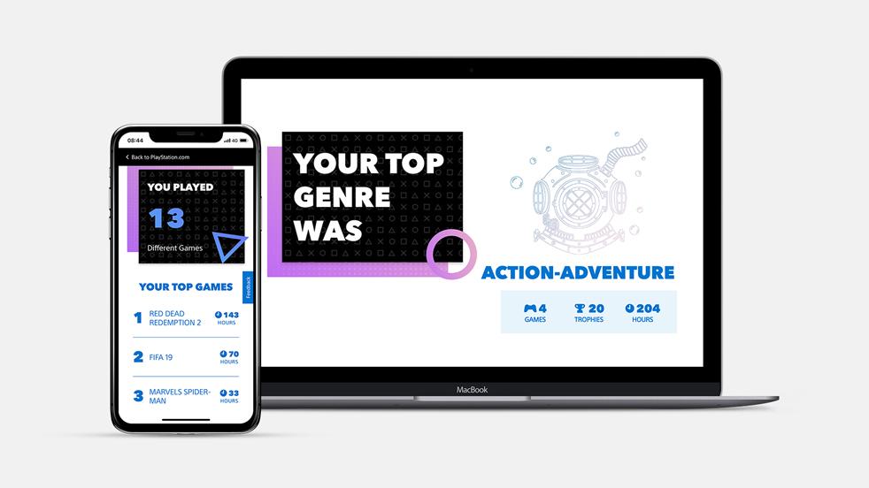Playstation web app UI